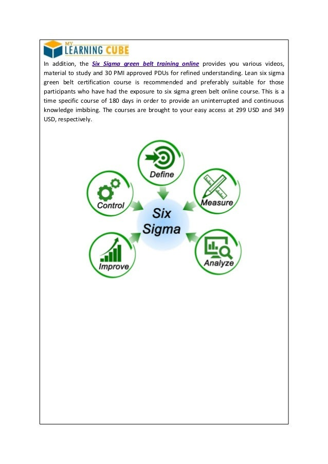 Six Sigma Training And Certification Online