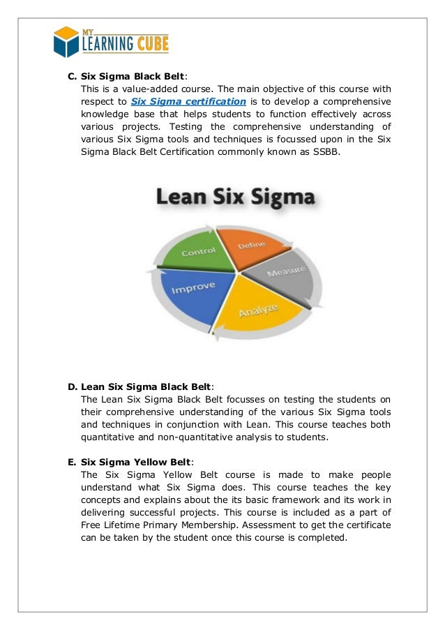 Six Sigma Trainingmylearningcube