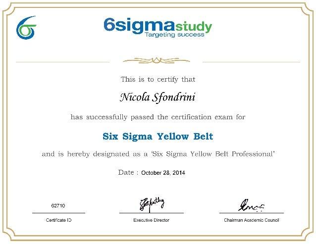 Six Sigma - Yellow Belt