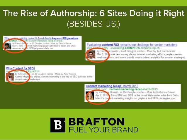 Six sites doing Authorship right