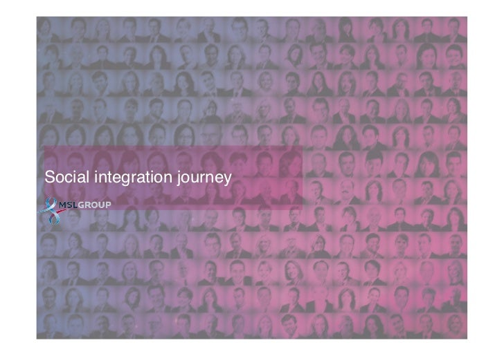 The Social Integration Journey Slide 3
