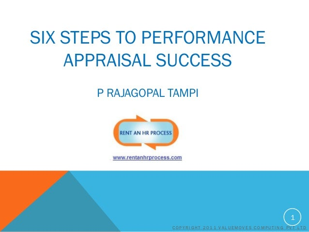 SIX STEPS TO PERFORMANCE APPRAISAL SUCCESS P RAJAGOPAL TAMPI  1 COPYRIGHT 2011 VALUEMOVES COMPUTING PVT LTD
