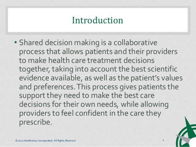 Six Steps of Shared Decision Making Slide 2