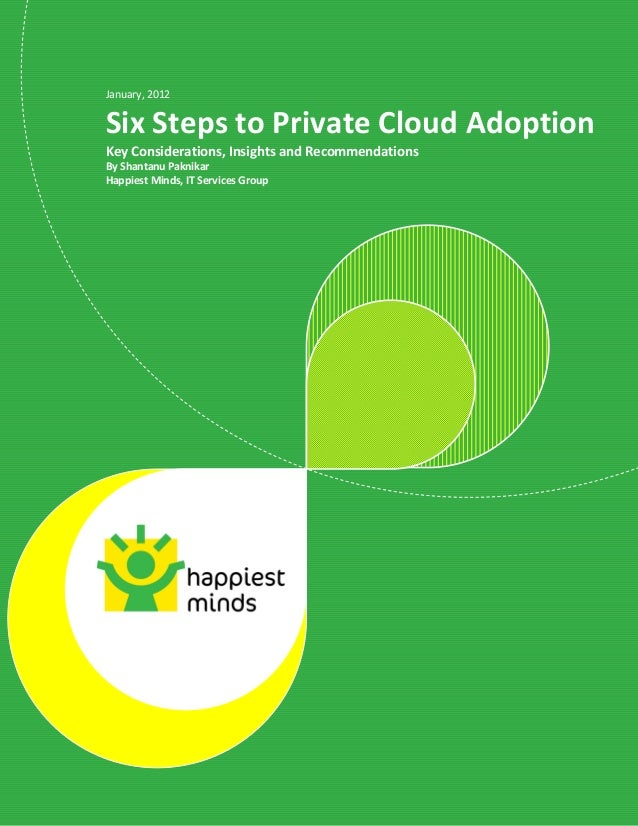 © Happiest Minds Technologies Pvt. Ltd. All Rights Reserved January, 2012 Six Steps to Private Cloud Adoption Key Consider...