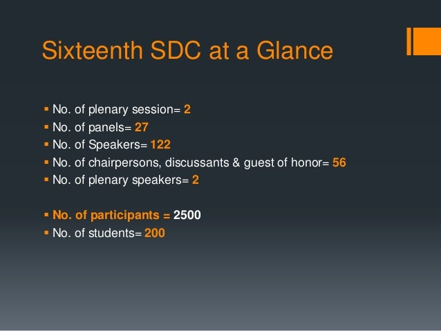 Sixteenth Sustainable Development Conference 2013 Slide 2