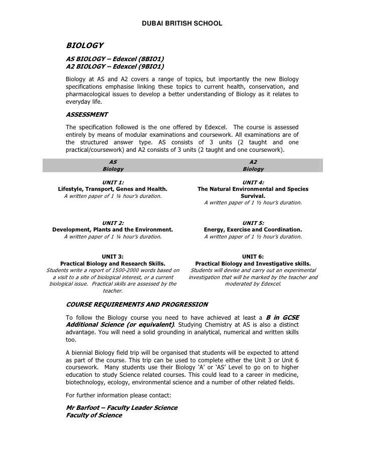 edexcel biology unit 3 coursework exemplar