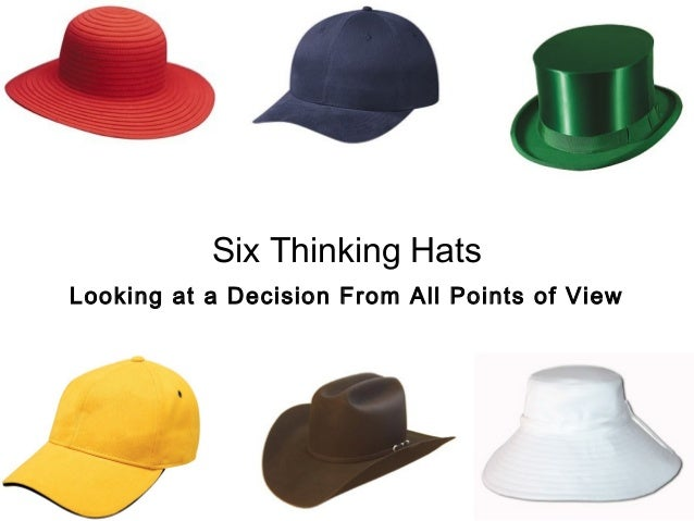Six Thinking HatsLooking at a Decision From All Points of View