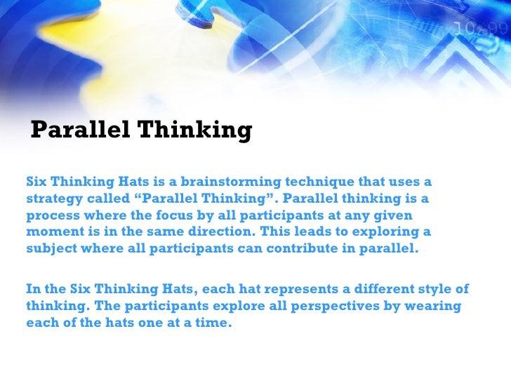 Six thinking hats brainstorming technique training Slide 2