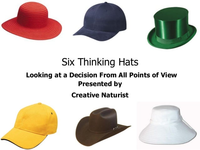 Six Thinking HatsLooking at a Decision From All Points of View               Presented by             Creative Naturist