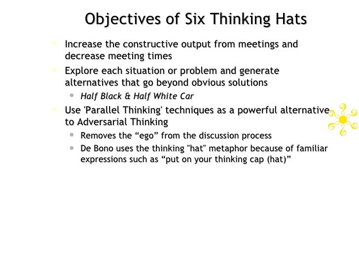 six thinking hats for workplace effectiveness