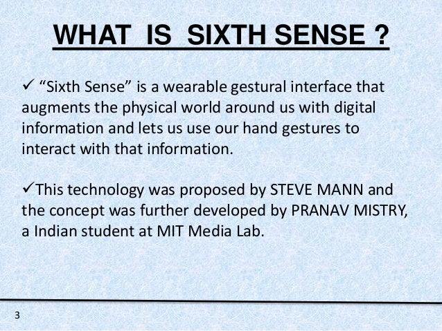 what is sixth sense