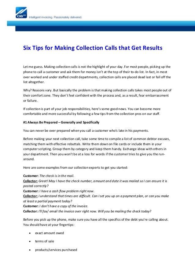 collection calls script - offplay.khafre.us