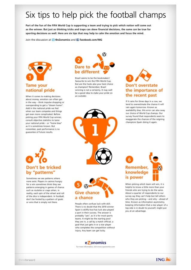 Six tips to help to pick the football champs #WorldCup2014