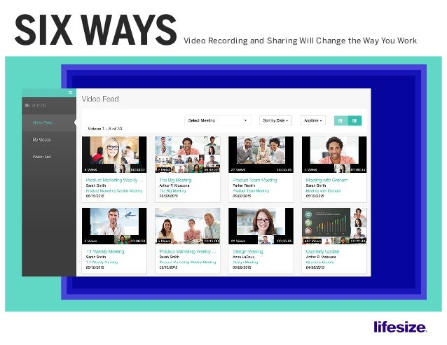 Video Recording and Sharing Will Change the Way You WorkSIX WAYS
