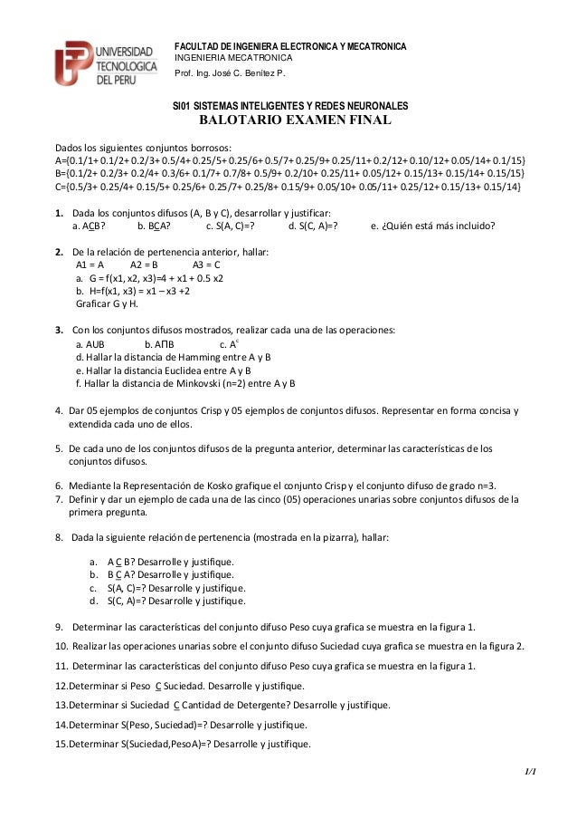 FACULTAD DE INGENIERA ELECTRONICA Y MECATRONICA                             INGENIERIA MECATRONICA                        ...
