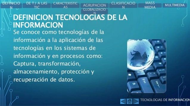Sistemas de informacion y tecnologias de la informacion - Definicion de multimedia ...