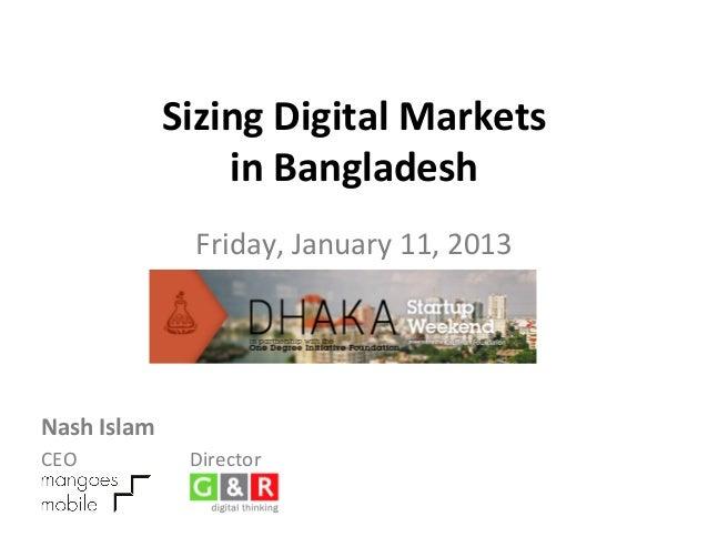 Sizing Digital Markets                          in Bangladesh                                               ...