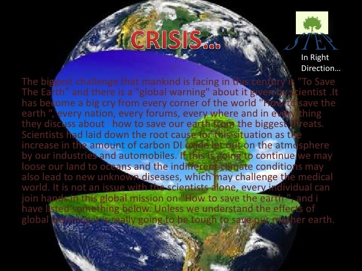 pollution and save earth Promoting local government regulatory and other efforts to tackle plastic pollution earth day 2019: save species find out more about the 2019 theme for earth day,.