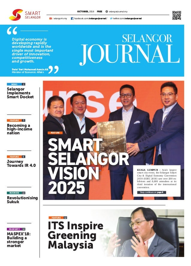 ITS Inspire Greening Malaysia PROPERTY FREE Selangor Implements Smart Docket Journey Towards IR 4.0 Becoming a high-income...