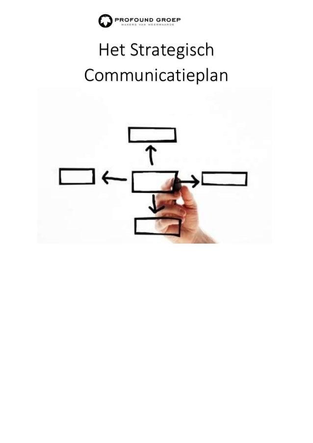 Het Strategisch Communicatieplan