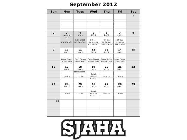 September 2012Sun         Mon             Tues              Wed             Thu              Fri          Sat             ...