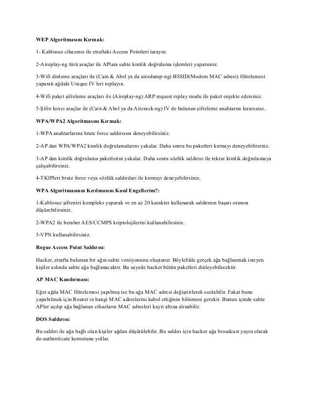 10-Kablosuz Ağlardaki Zaafiyetler Slide 3