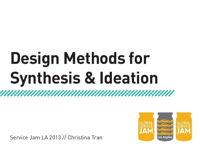 Design Methods forSynthesis & IdeationService Jam LA 2013 // Christina Tran