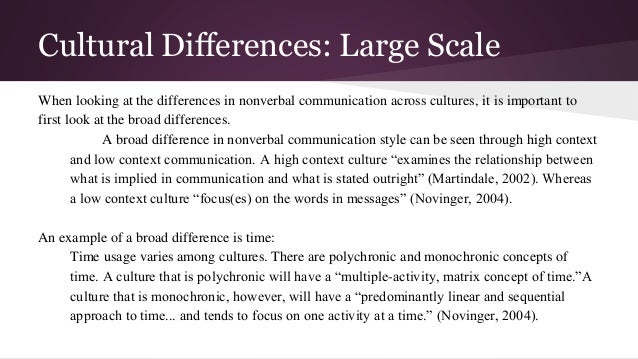 Group 3 Nonverbal Communication Differences