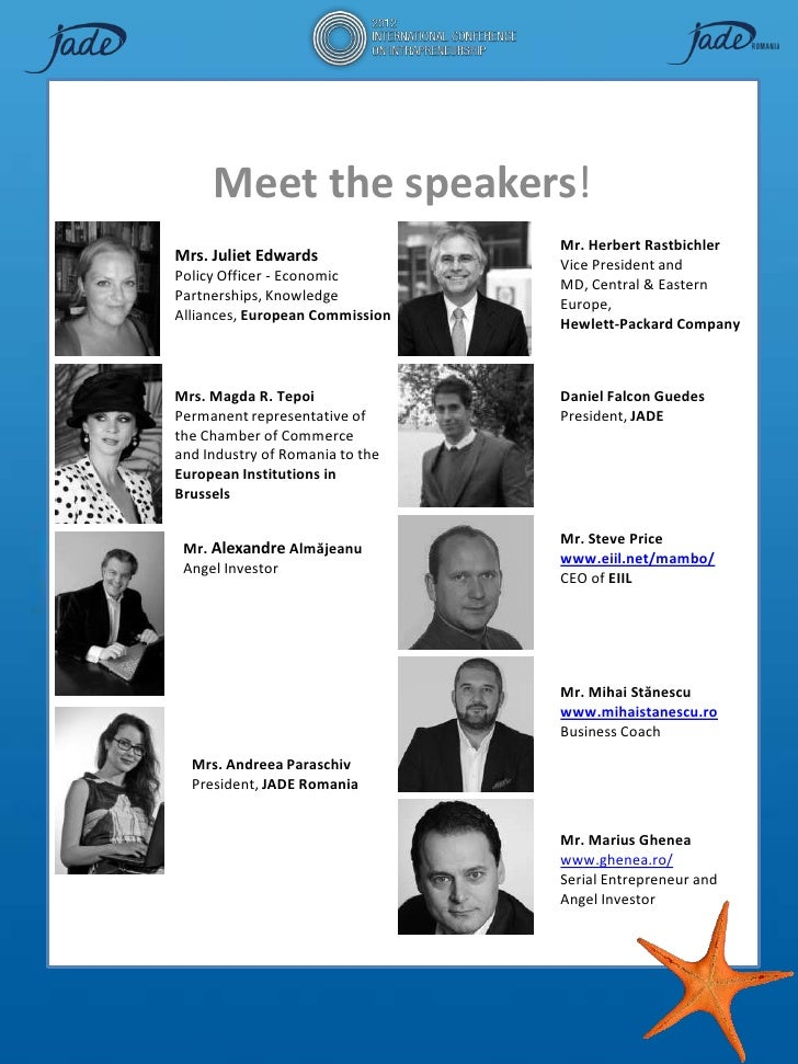 Meet the speakers!                                 Mr. Herbert RastbichlerMrs. Juliet Edwards              Vice President ...