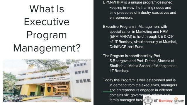 Executive Management Program By Sjmsom Iitb