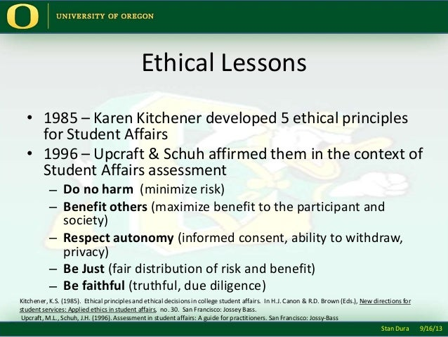 kitchener five moral principles Principles of ethical leadership  the five principles of ethical leadership presented here can be traced back to aristotle  (kitchener, 1984), and leadership.