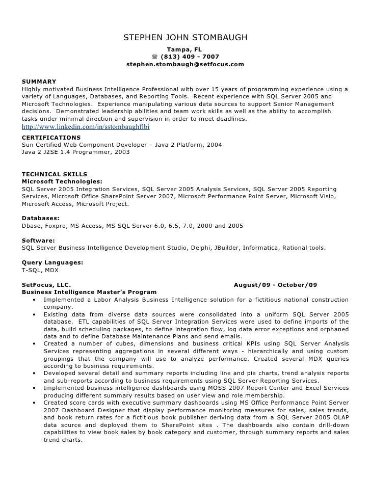 resume sql server reporting services SlideShare