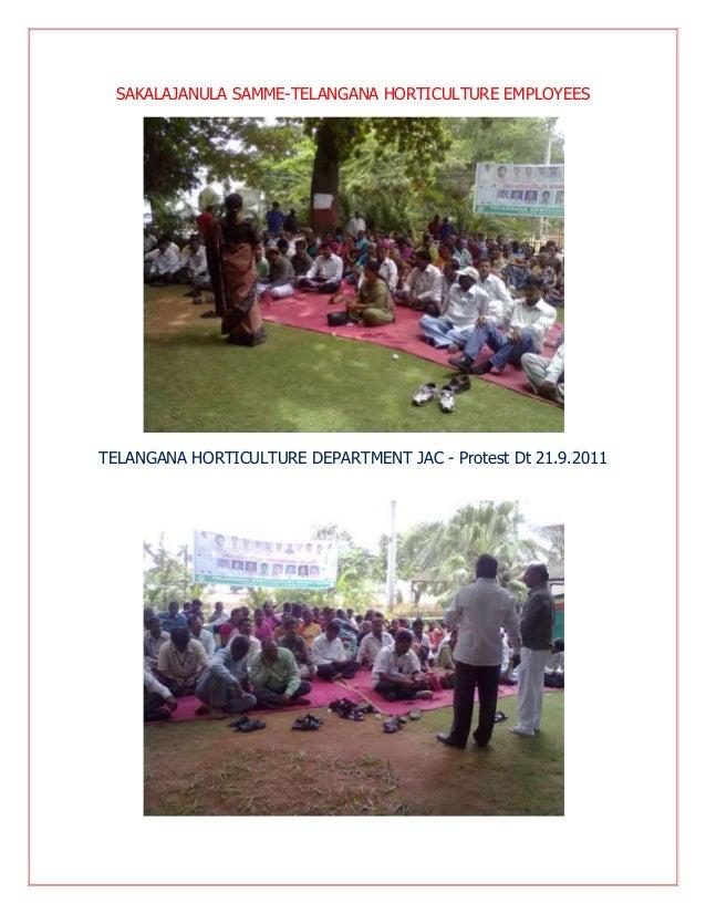 SAKALAJANULA SAMME-TELANGANA HORTICULTURE EMPLOYEES  TELANGANA HORTICULTURE DEPARTMENT JAC - Protest Dt 21.9.2011