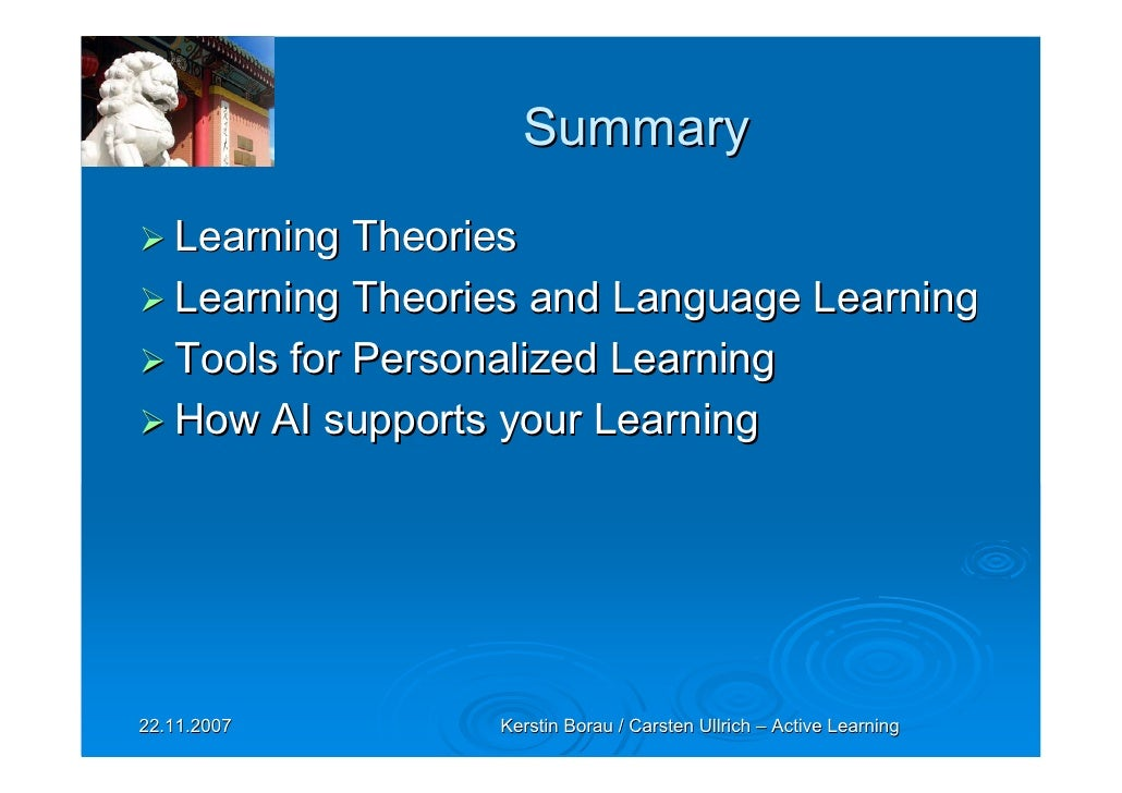 customized learning theory Education next is a journal of opinion and the concept of personalized learning has gained traction among personalized learning theory is built on the.