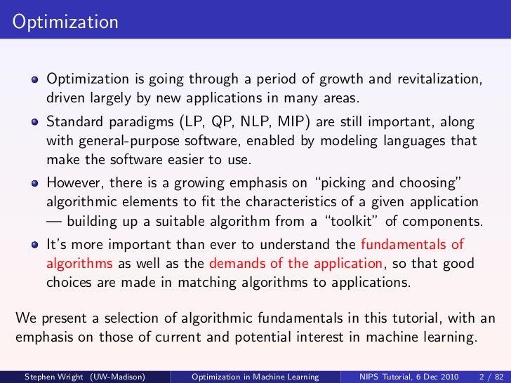nips2010 optimization algorithms in machine learning