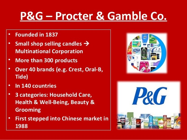 P g marketing strategy for candles