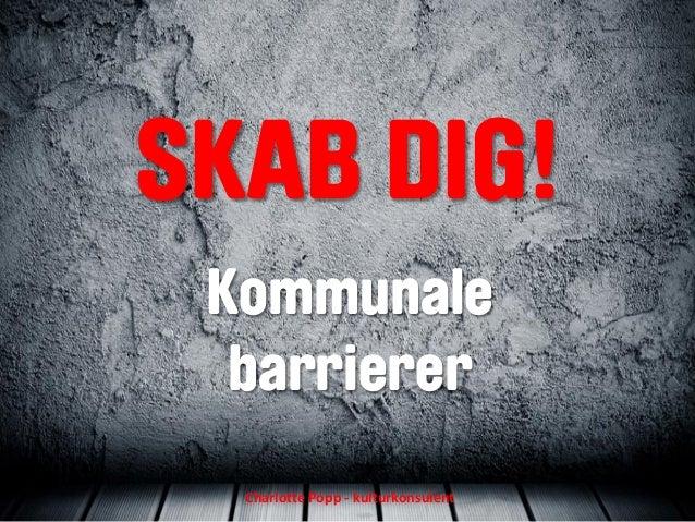 SKAB DIG! Kommunale barrierer Charlotte Popp - kulturkonsulent