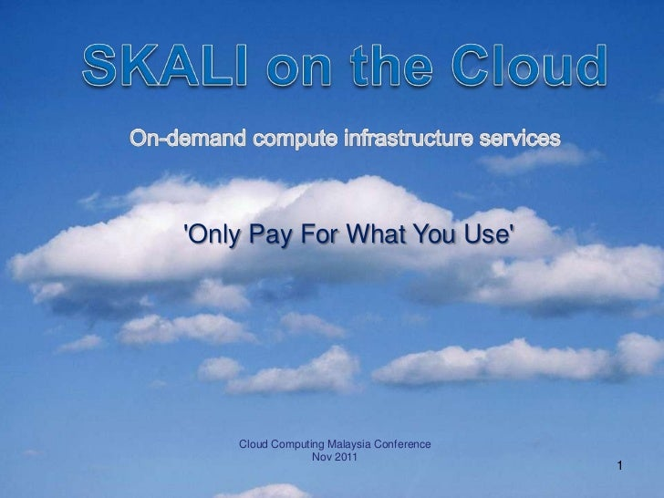 Only Pay For What You Use    Cloud Computing Malaysia Conference                 Nov 2011                                 ...
