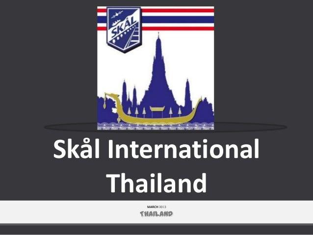 Skål International Thailand MARCH 2013  THAILAND