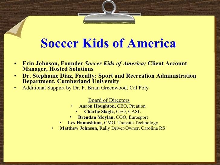 Soccer Kids of America Volunteer Training Presentation Slide 2