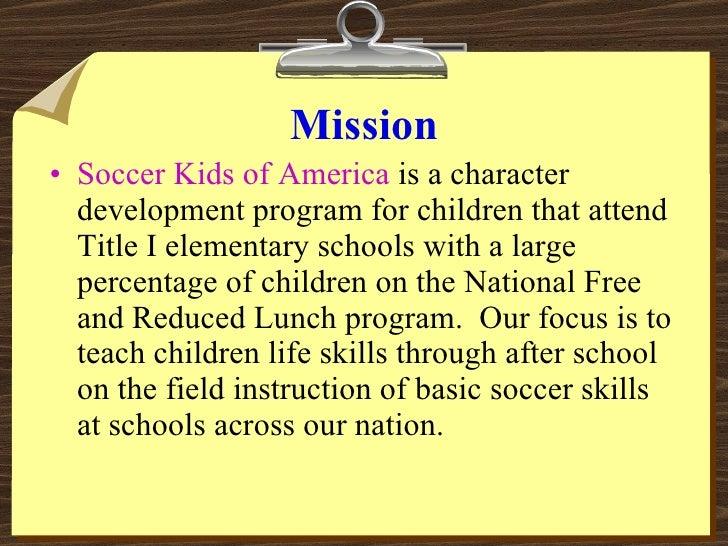 Soccer Kids of America Volunteer Training Presentation Slide 3