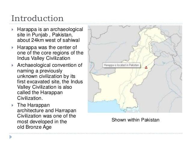 short note on harappan civilization