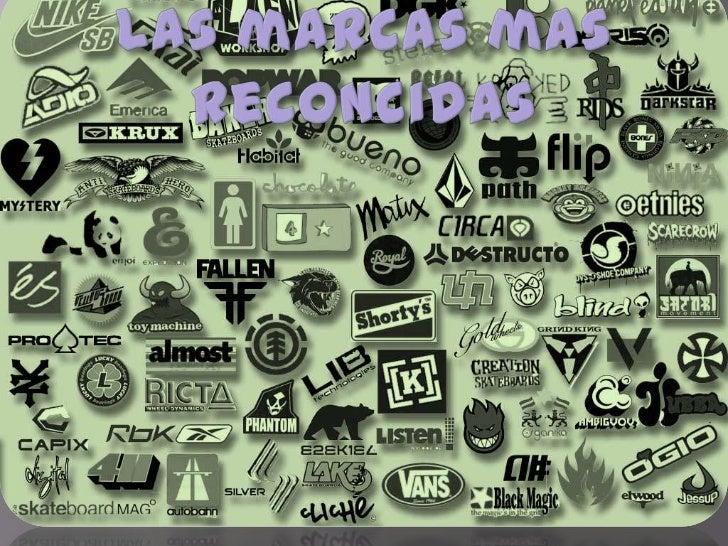 Las marcas mas reconcidas<br />