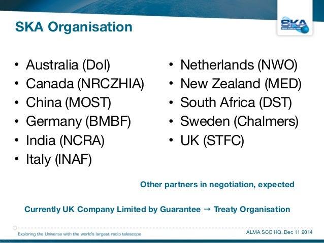 • Australia (DoI)  • Canada (NRCZHIA)  • China (MOST)  • Germany (BMBF)  • India (NCRA)  • Italy (INAF)  • Netherlands (NW...