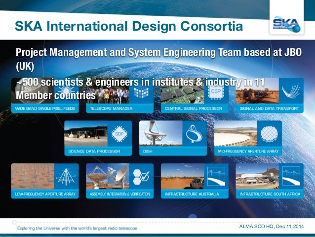 SKA International Design Consortia  Project Management and System Engineering Team based at JBO  (UK)  ~500 scientists & e...