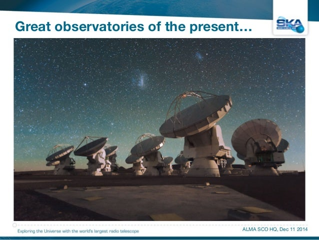 Great observatories of the present…  • Introduction  • Science  • Site, Telescopes, Technologies  • SKA as an Exaflop Came...