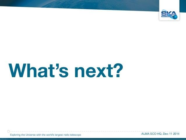 What's next?  ALMA SCO HQ, Dec 11 2014