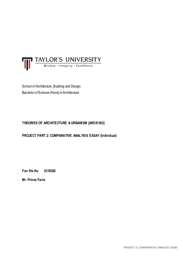 Process Essay Example Paper Project  Comparative Analysis Essay School Ofarchitecture Building And  Design Bachelor Ofscience Hons  The Yellow Wallpaper Essay also Harvard Business School Essay Sk Comparative Analysis Essay Essay On Global Warming In English