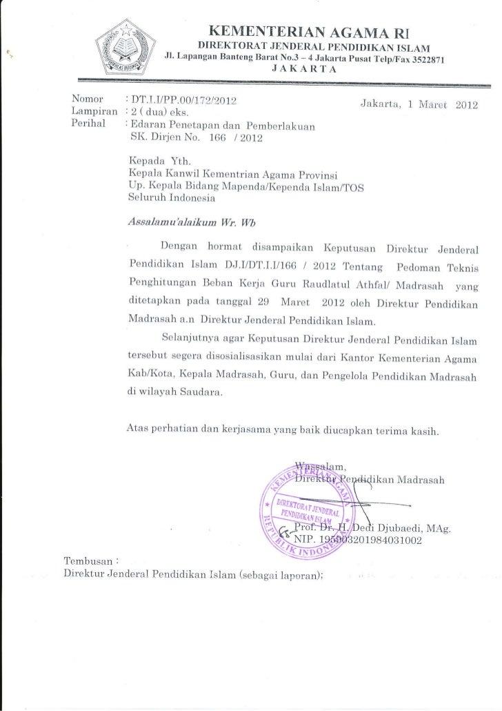 KEMENTERIAN AGAMA RI                              DIREKTORAT JENDERAL PENDIDIKAN ISLAM                       Jl. Lapangan ...