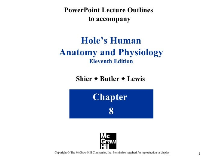 PowerPoint Lecture Outlines  to accompany Hole's Human Anatomy and Physiology Eleventh Edition Shier    Butler    Lewis ...